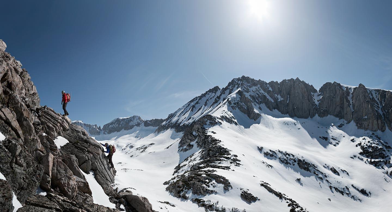 Rod Mclean Photographytwo Guys Climbing A Snowy Mountain