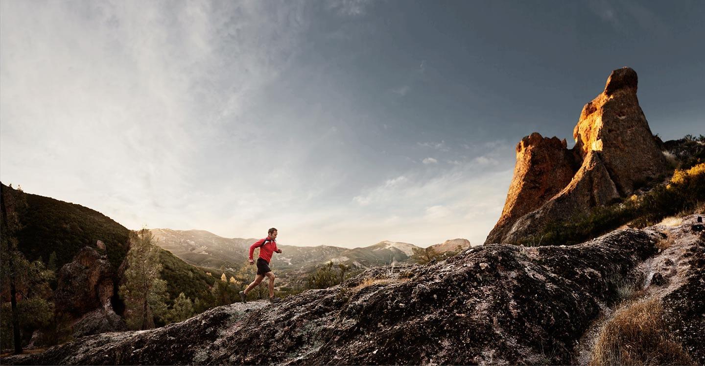 Rod Mclean - a man trail running