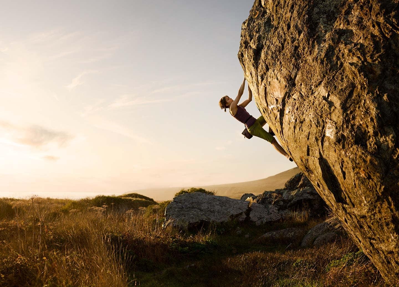 Rod Mclean - woman rock climbing