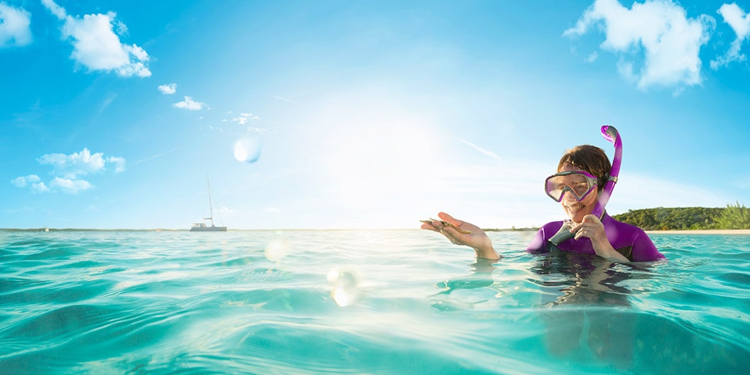 Rod Mclean - woman snorkeling