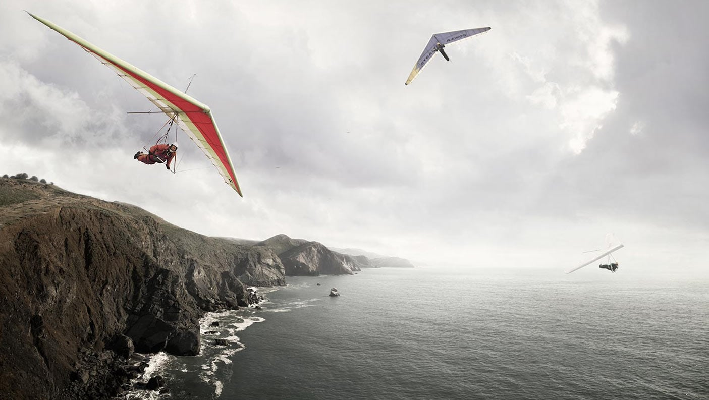 Rod Mclean - hang gliding
