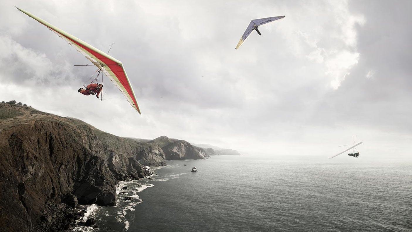 Rod Mclean - hang gliding