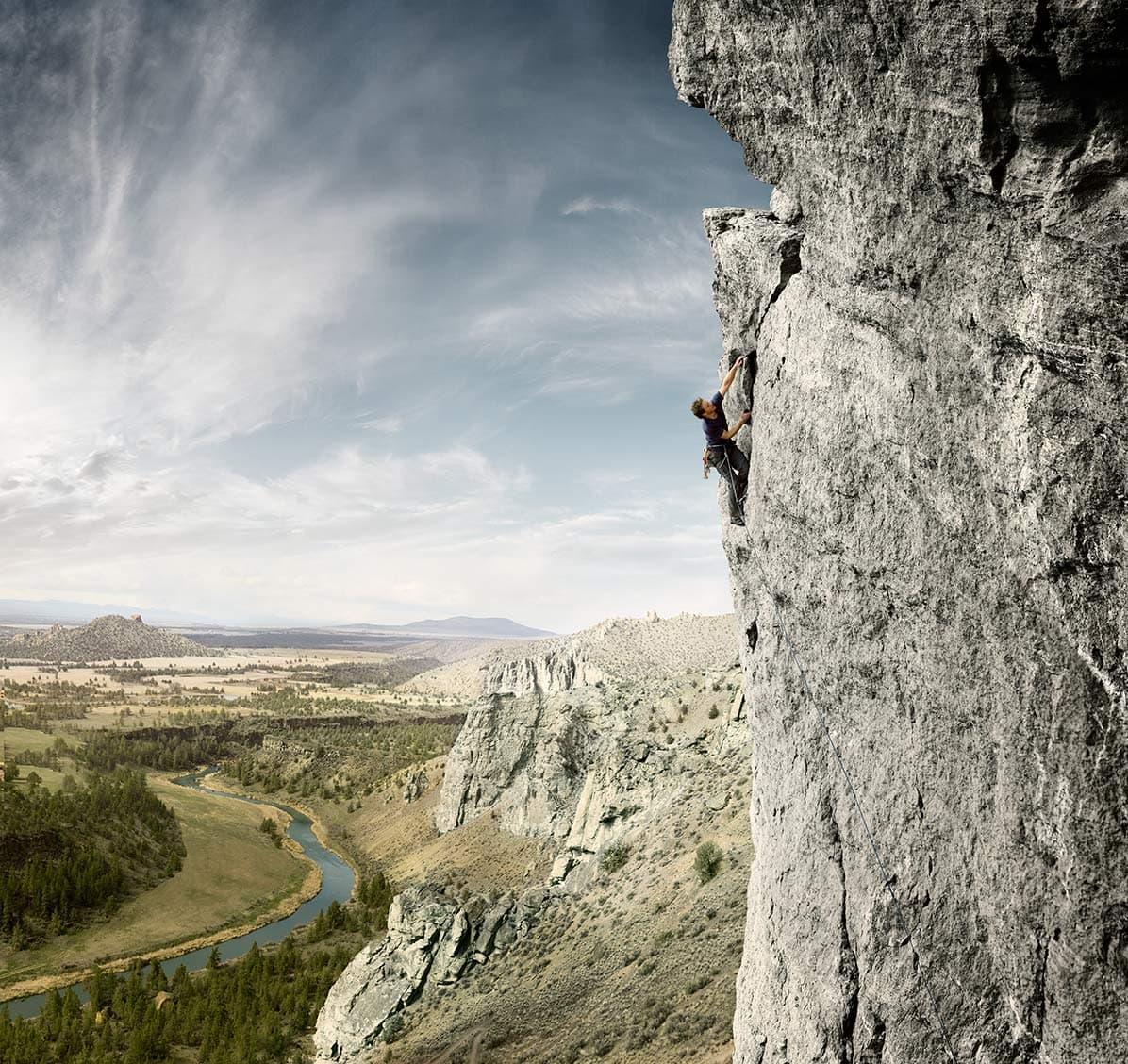 Rod Mclean - man climbing mountain