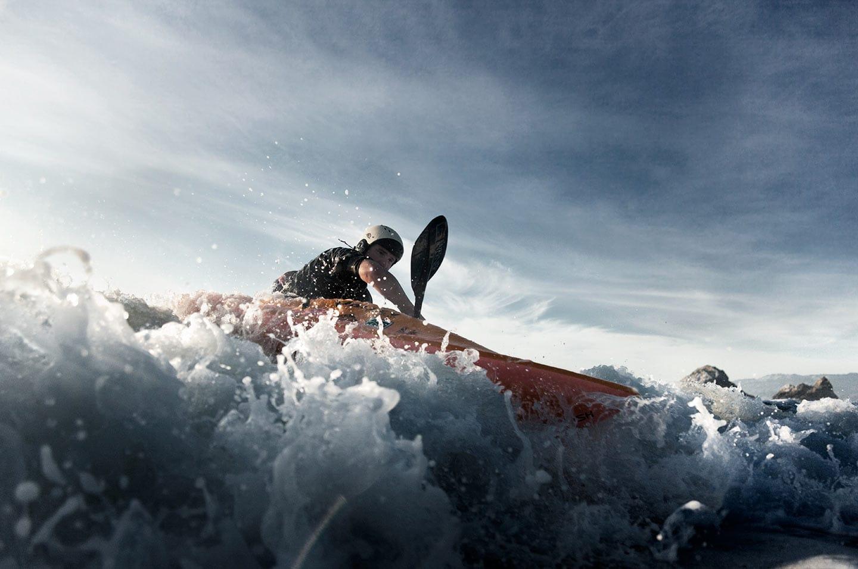 Rod Mclean - man kayaking in the ocean