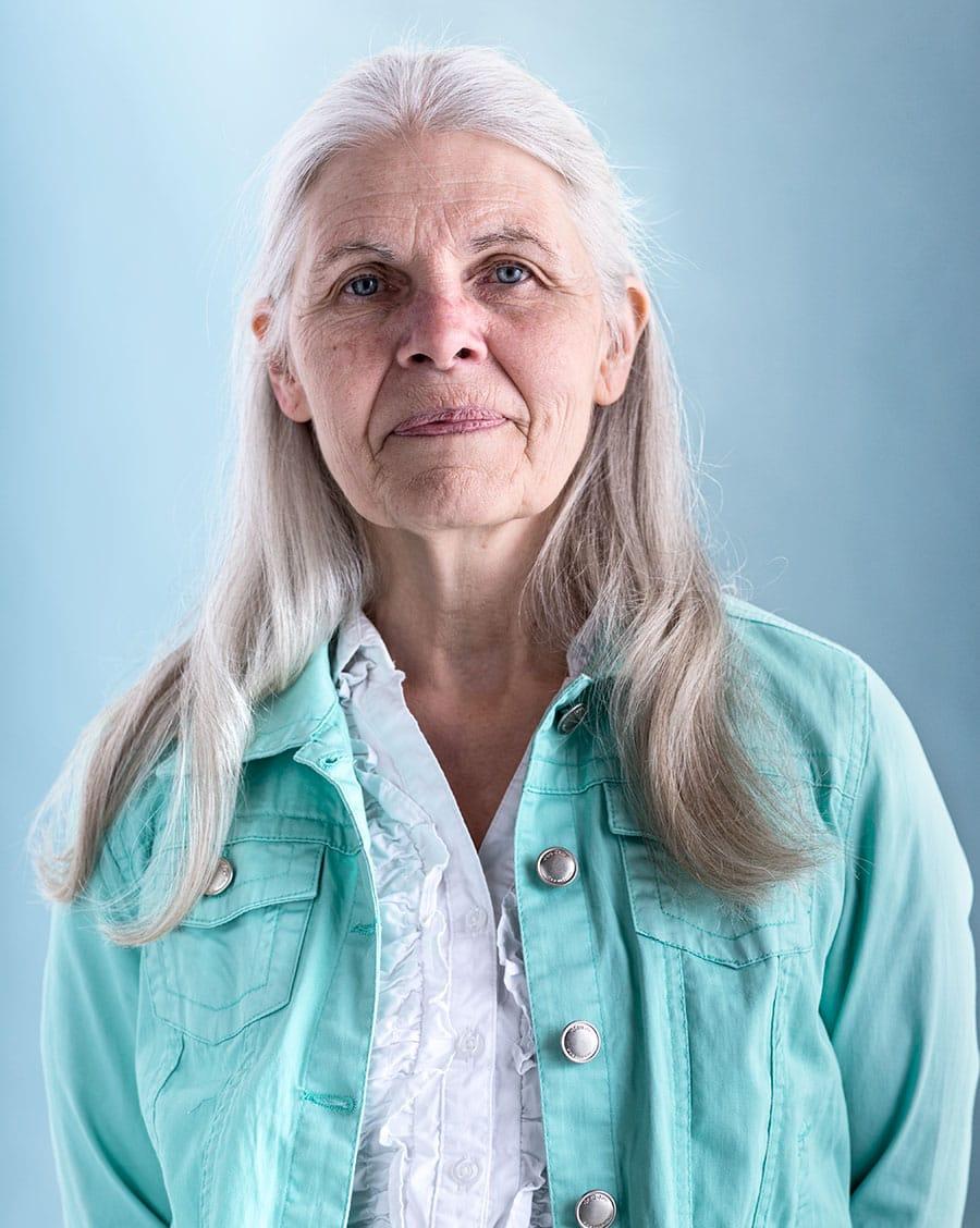 Rod Mclean - portrait of elderly lady