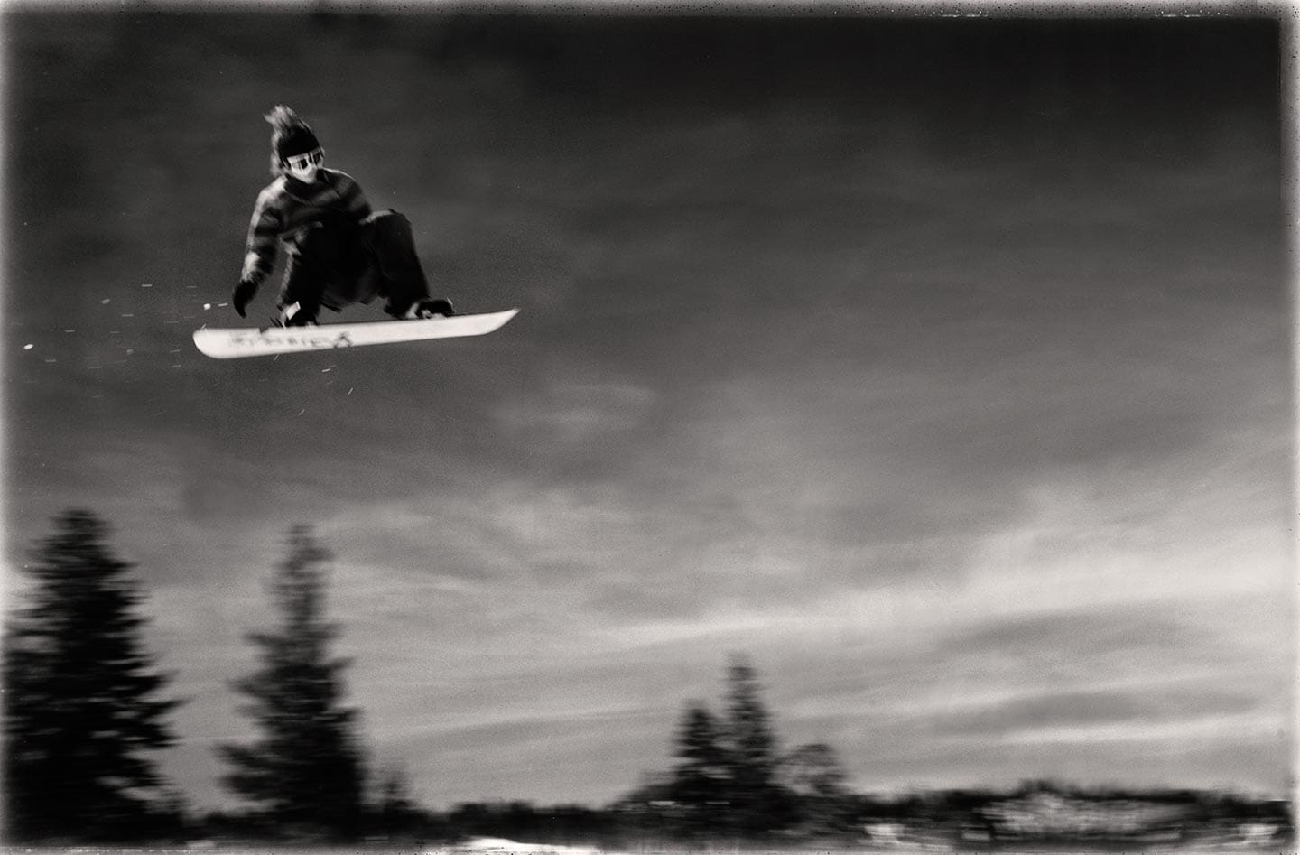 Rod Mclean - snowboarder in the sky