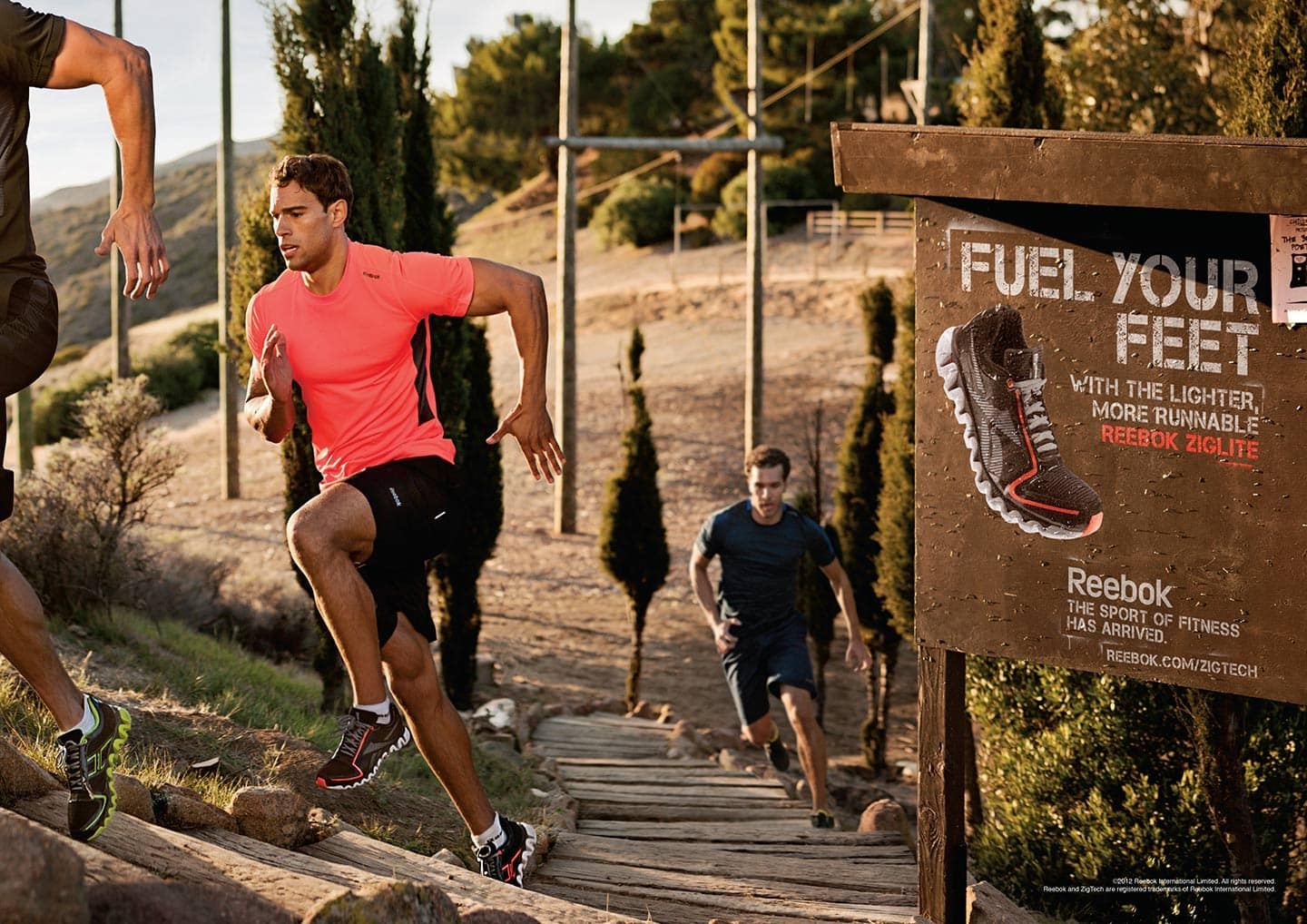 Outdoor Stairs Run Men Reebok Advertisment Fuel Your Feet