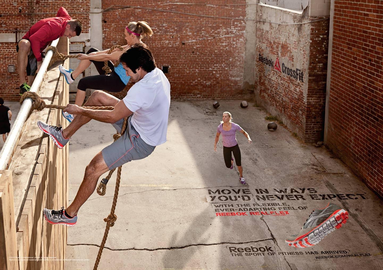 Wall Rope Climb Athletic Crossfit Workout Men Women Reebok Apparel Horizontal