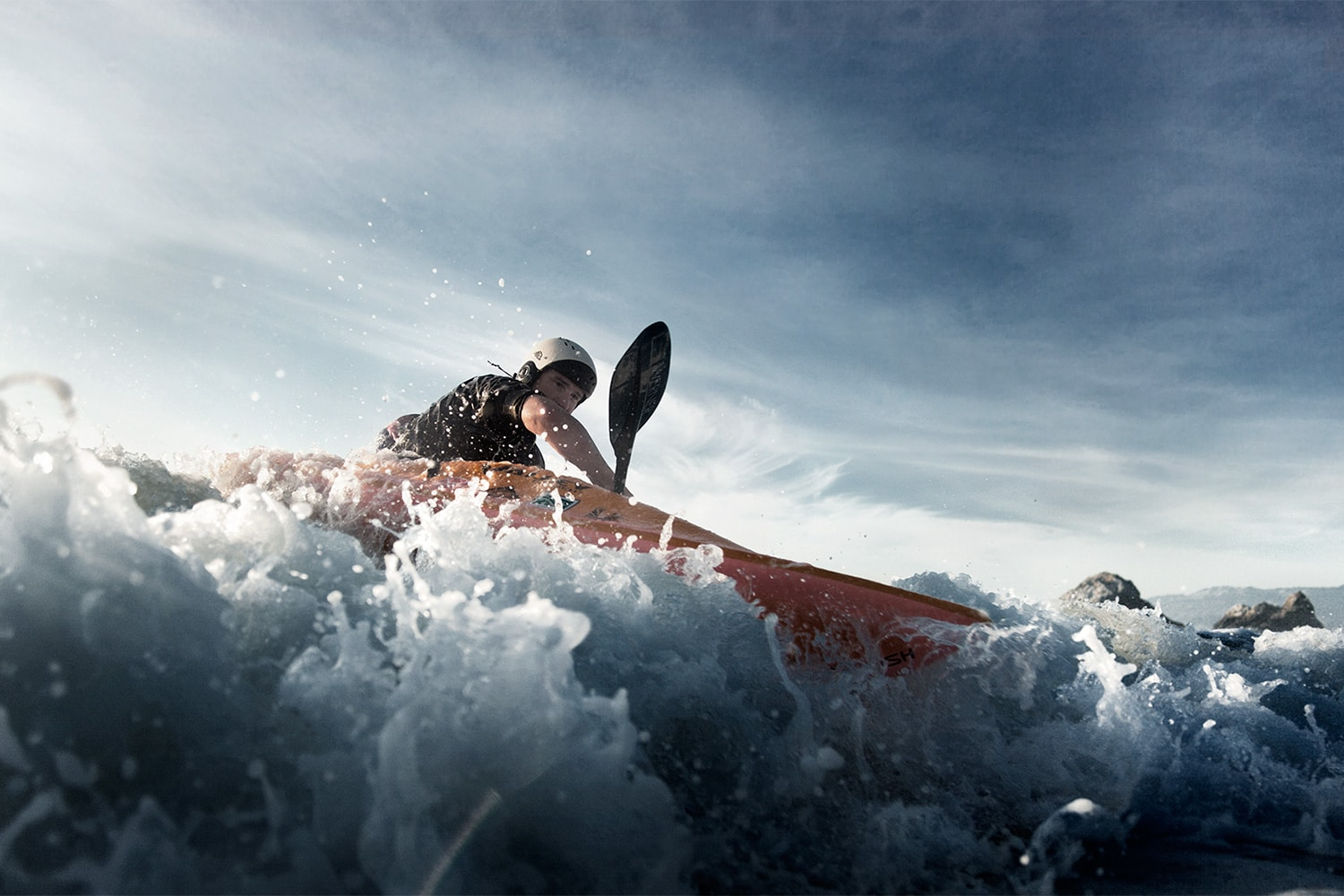 Athlete-Man-sea-kayaking-in-the-waves-Rod-McLean