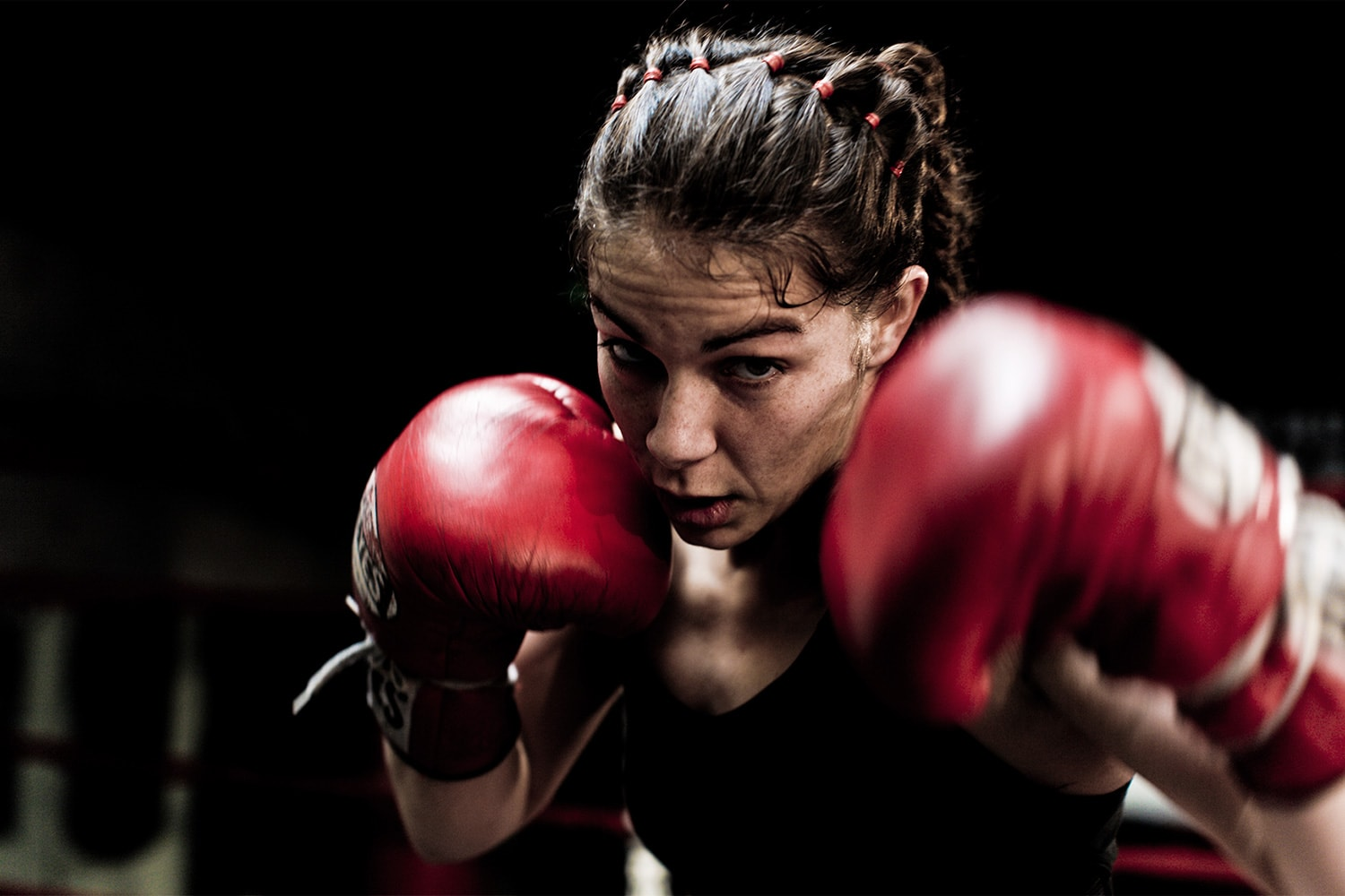 Athlete-female-boxer-red-gloves-Rod-McLean