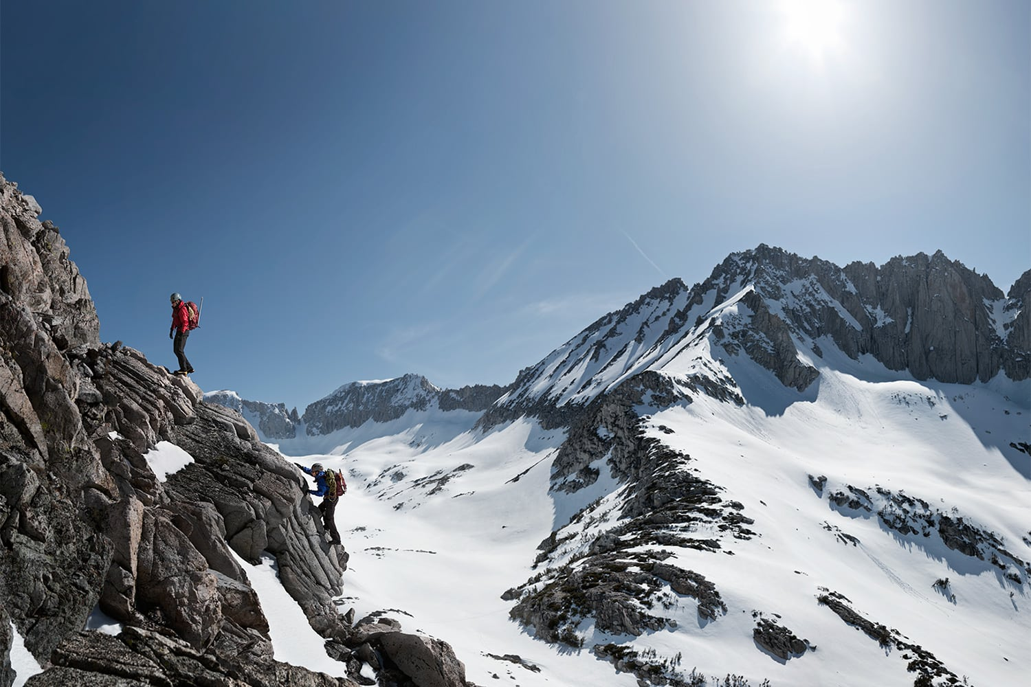 Athlete-two-male-mountaineering-alpinism-athletes-climbing-in-mountains-Rod-McLean