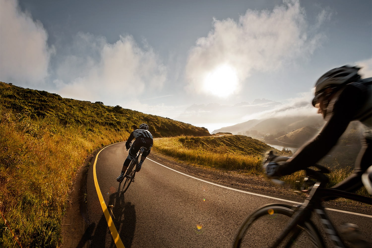 Athletes-two-males-Cycling-on-the-road-Rod-McLean