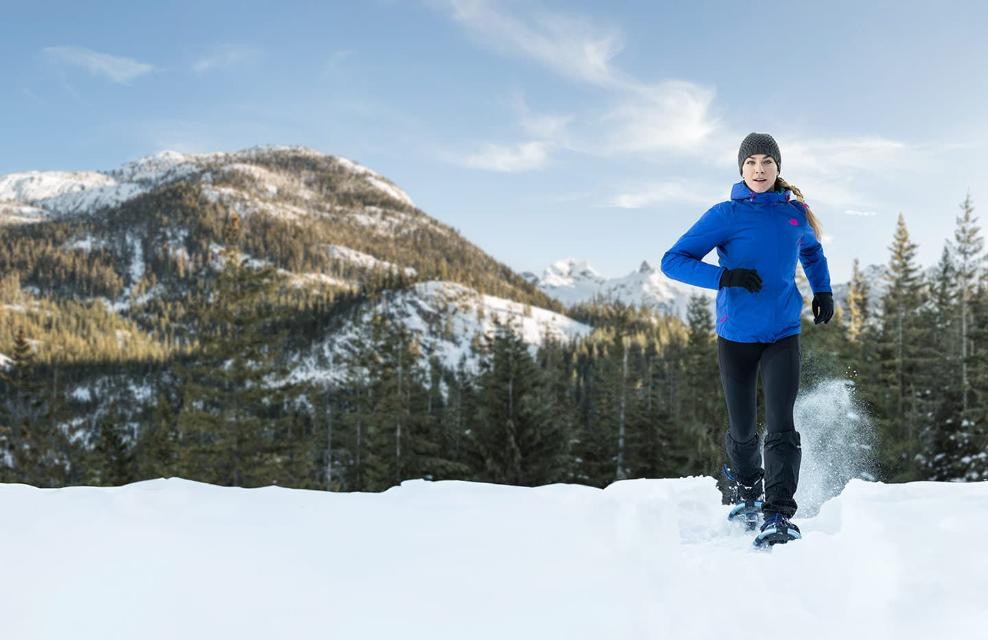 Running with Snowshoes in the Mountains Rod McLean Lorea2_G